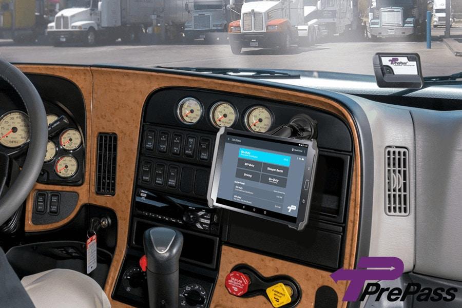 PrePass ELD Installed on a Vehicle