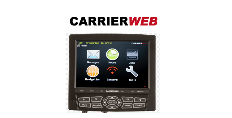 CarrierWeb Trucking Product Interface
